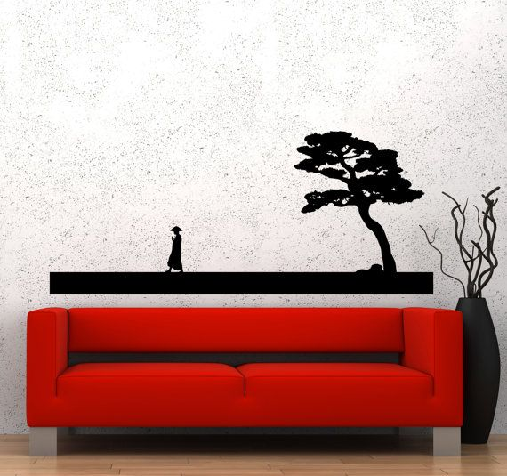 Vinyl Wall Decal Asian Decor Chinese Art Oriental China Stickers - Vinyl wall decals asian