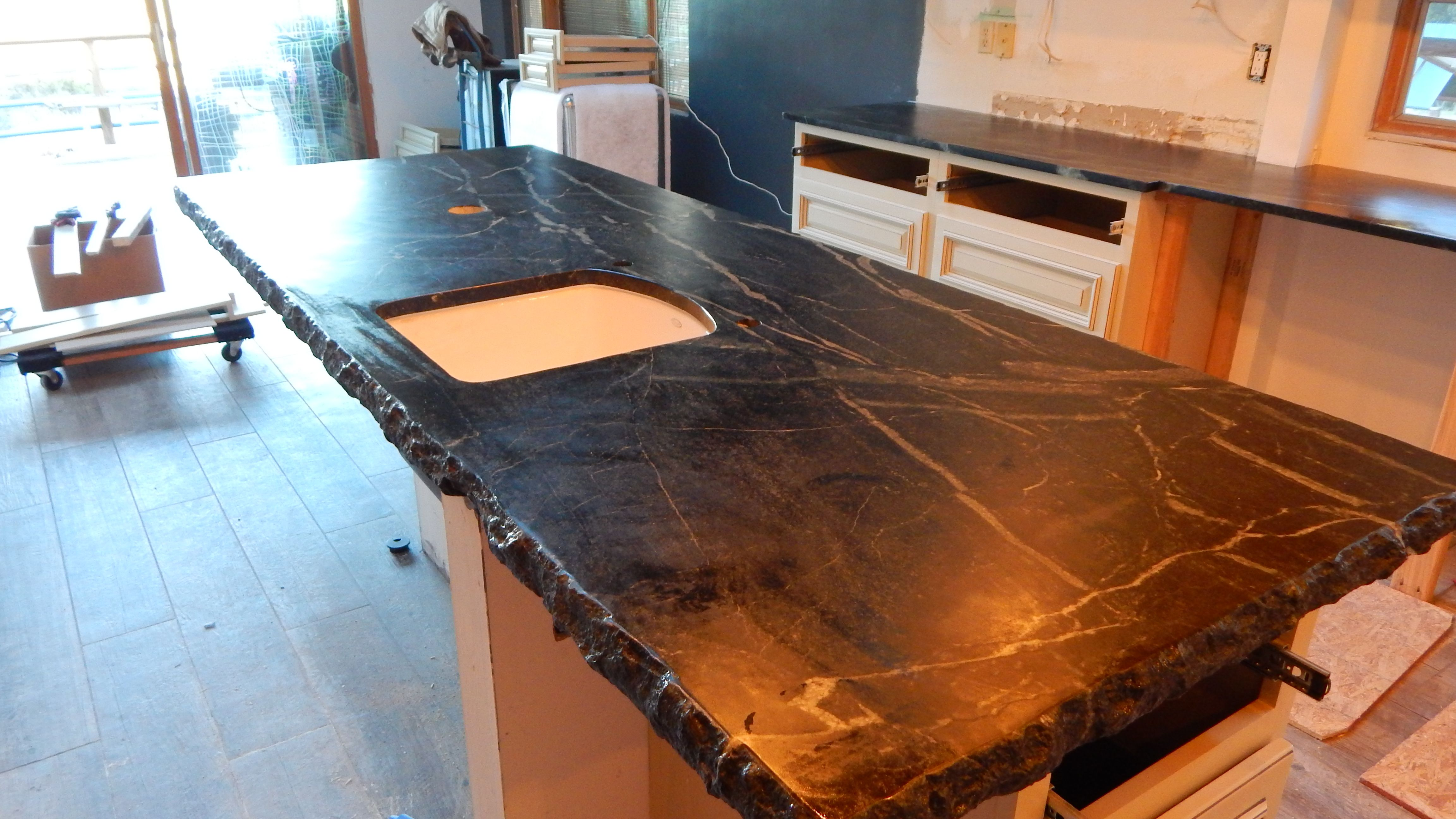 Sierra Black Kitchen Island