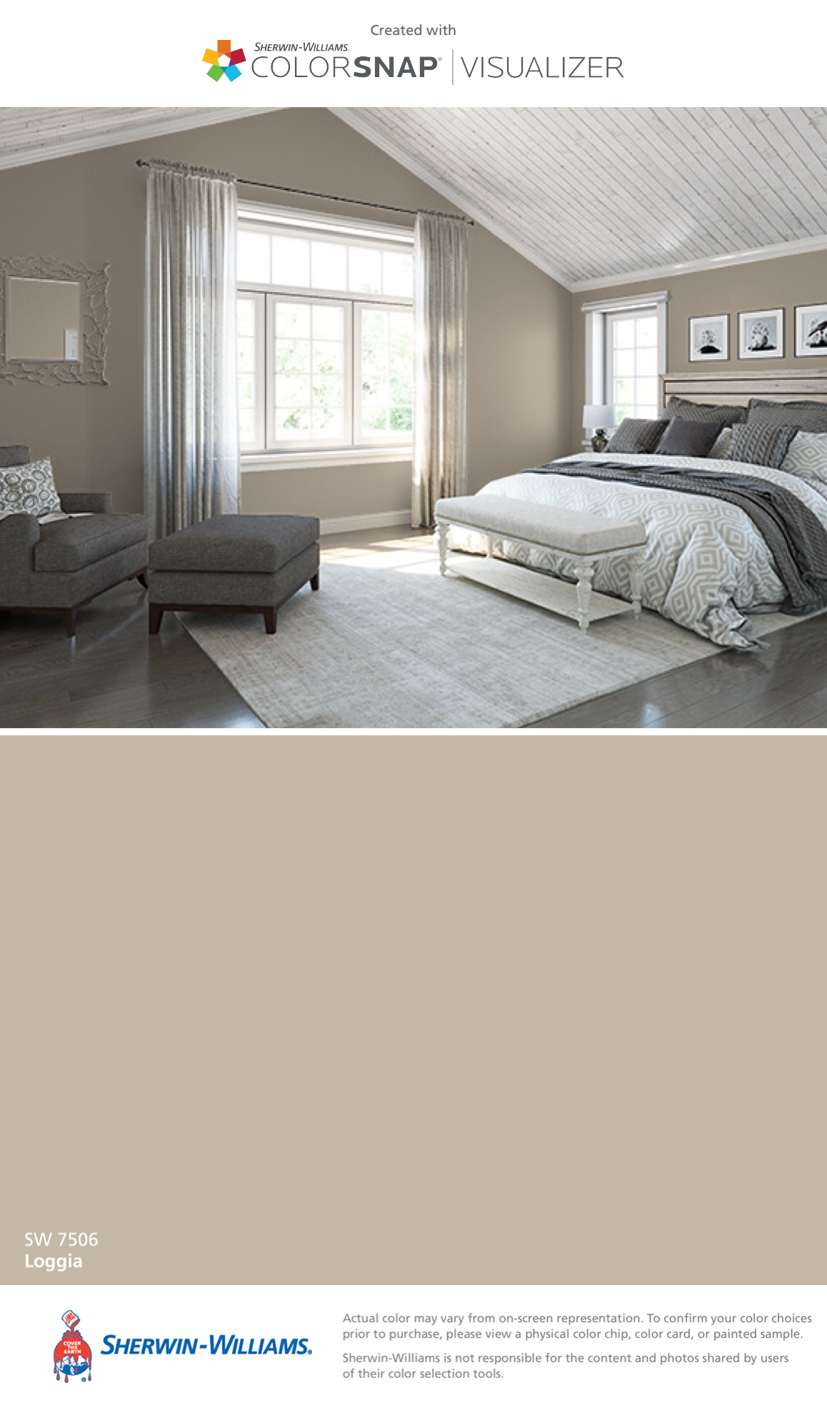 I found this color with colorsnap visualizer for iphone by sherwin williams loggia sw 7506