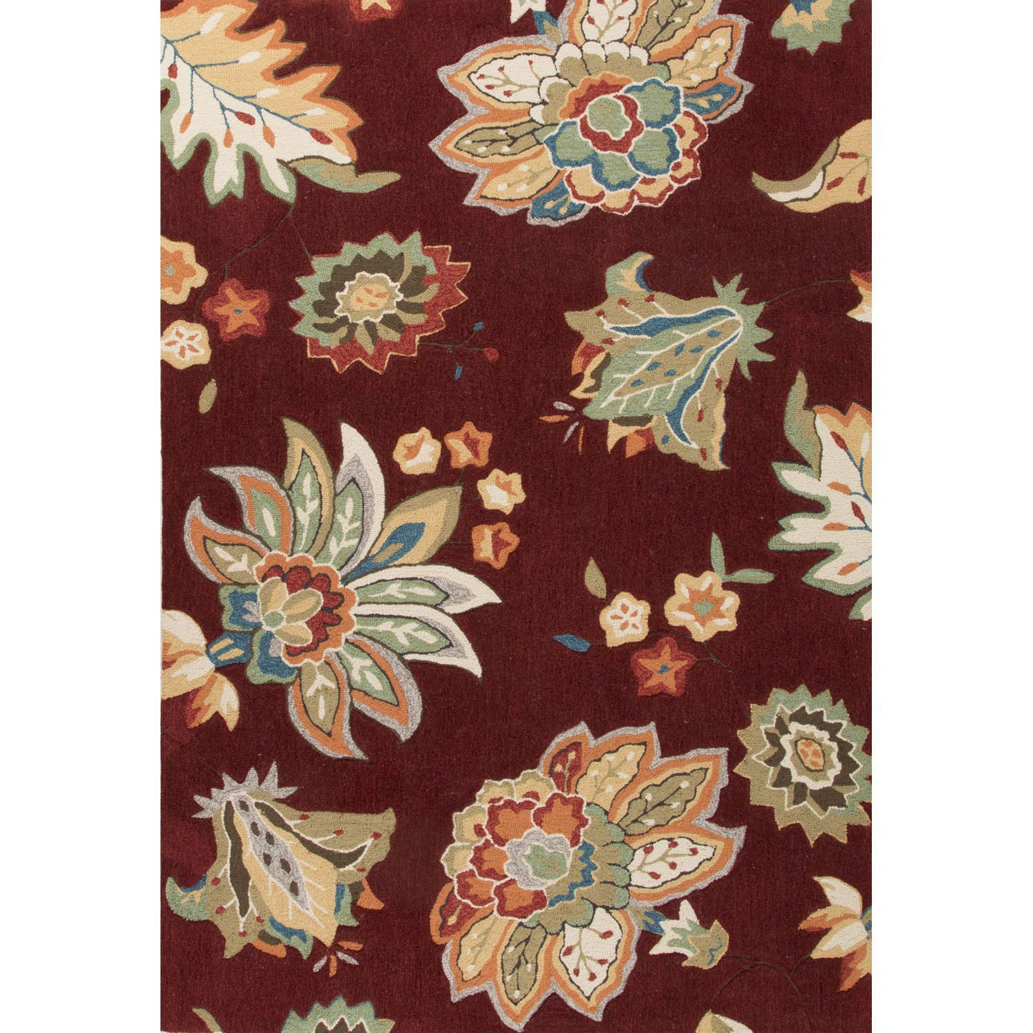 Blossom Hand-Tufted Red/Yellow Area Rug