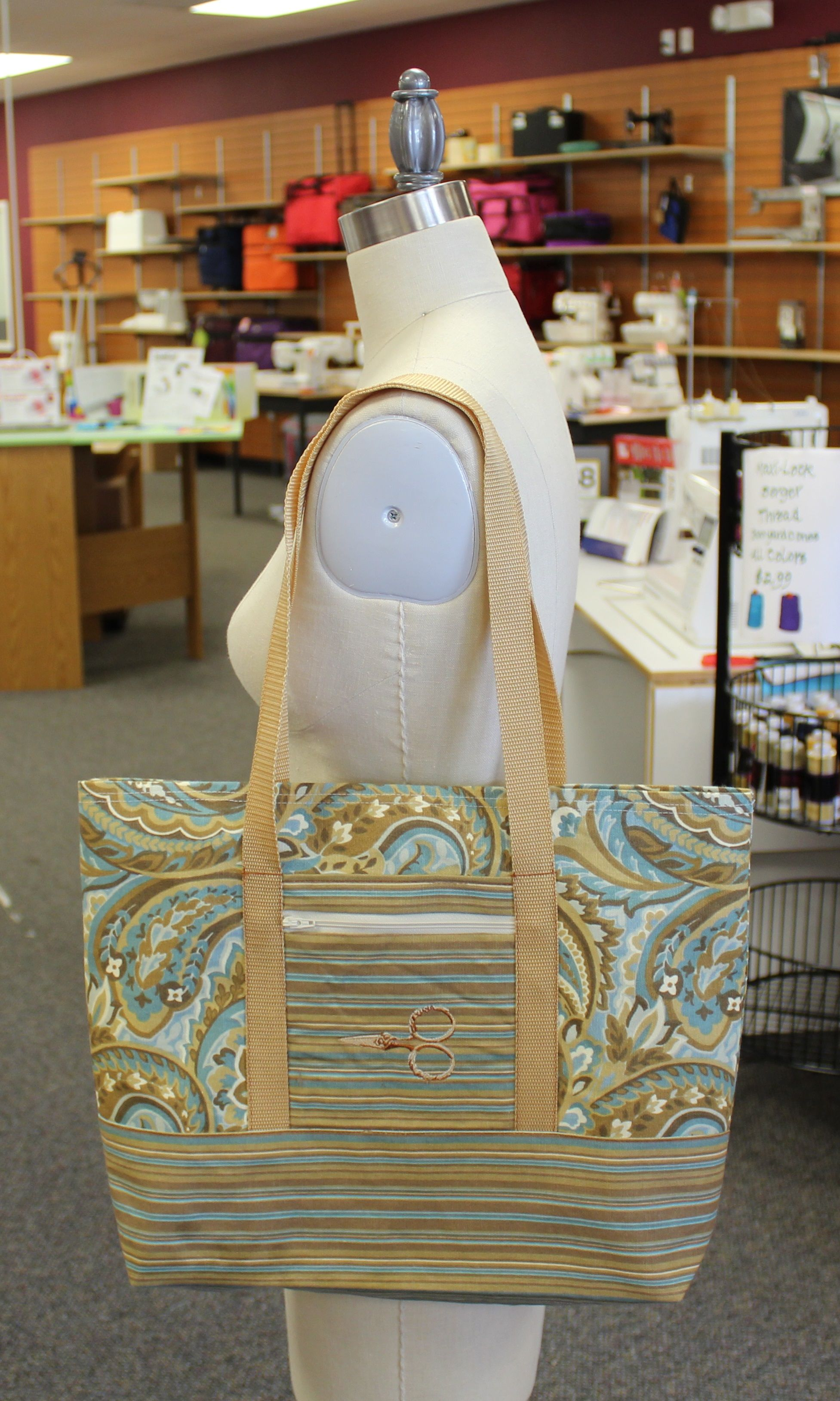 Janome memory craft 12000 - Tote Bag Stitched On Janome Hd3000 Pocket Embroidered On Janome Horizon Memory Craft