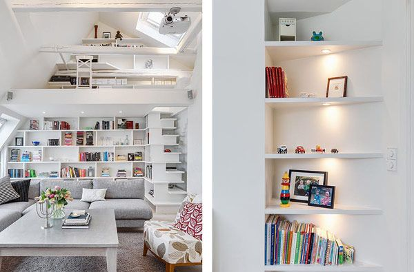 Attic apartment in Stockholm. it is 141 sqm with a double-height living.