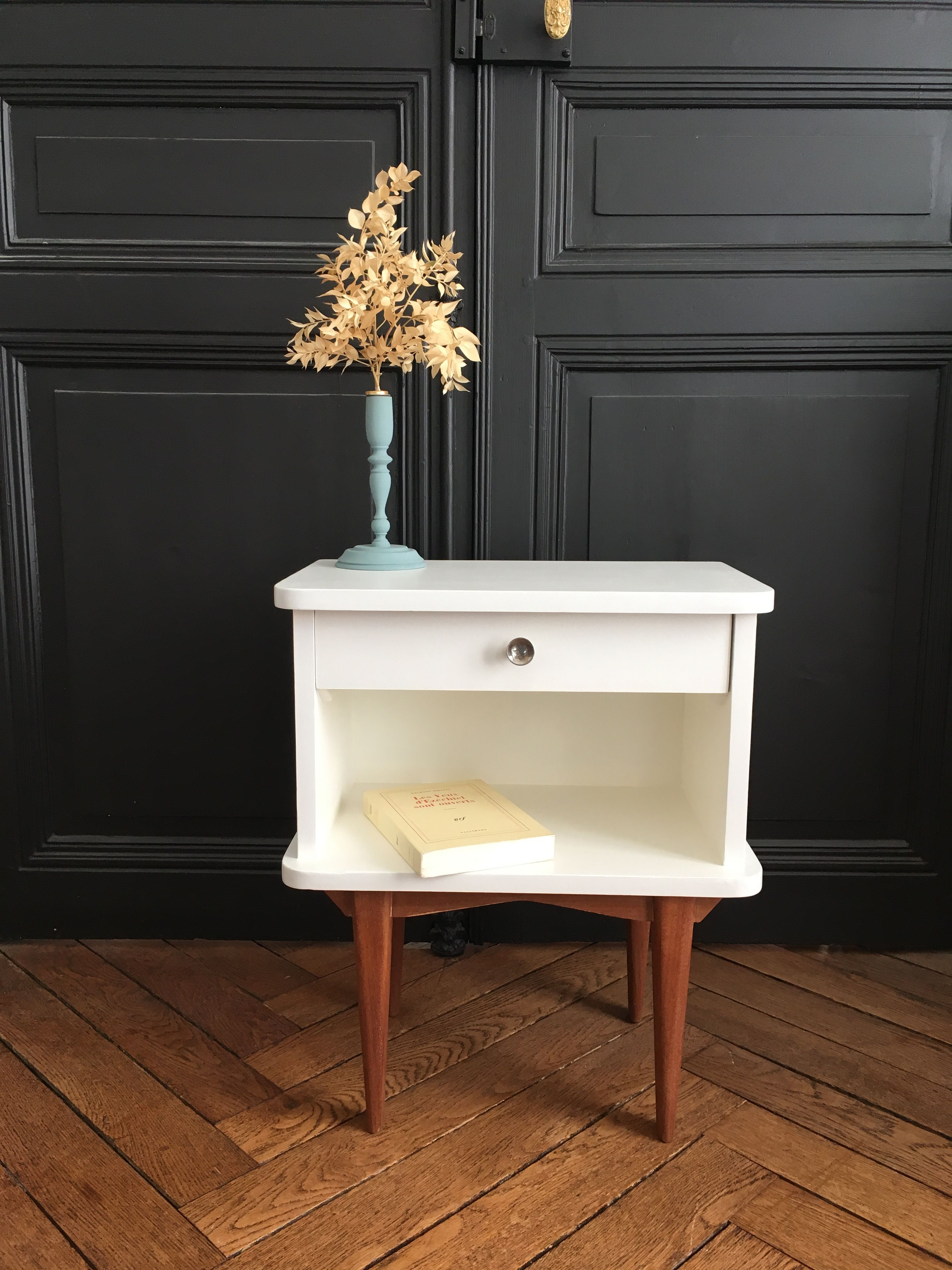 Chevet Vintage Blanc Casse Meubles Vintage Nantes Home Decor Furniture Decor
