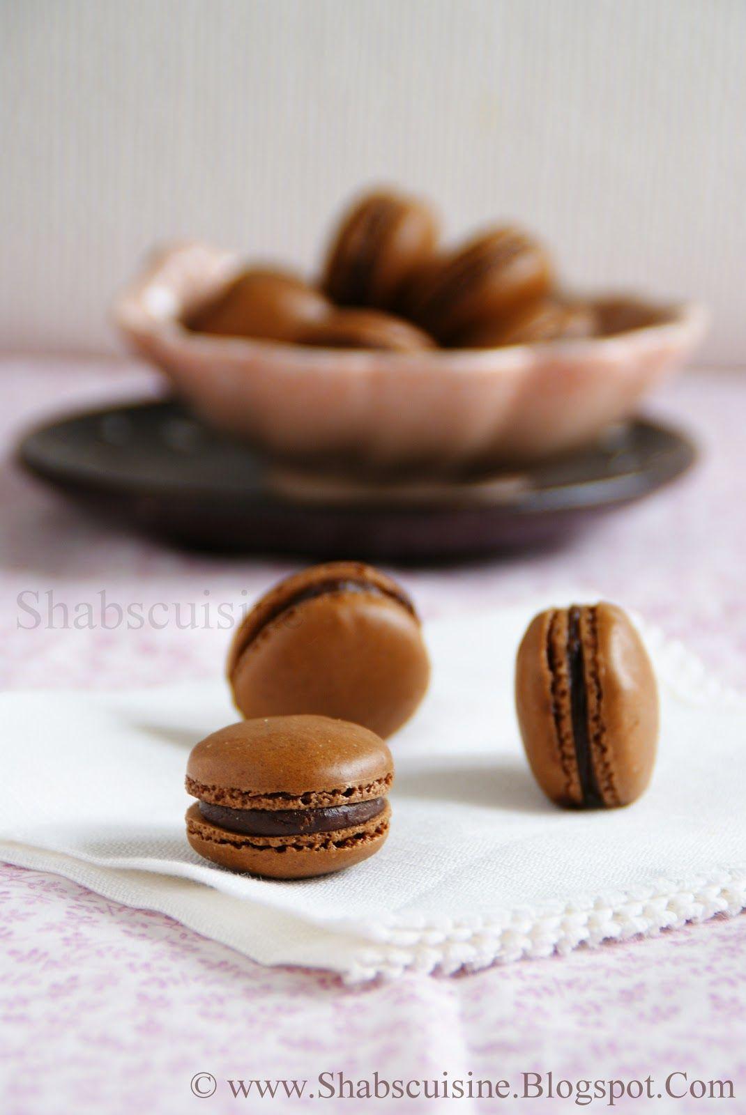 Shab's Cuisine: Chocolate Macarons with Mocha Ganache