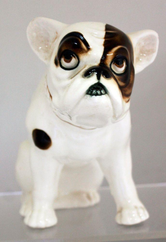 1930's Czechoslovakia Pottery Art Deco French Bulldog