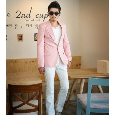 Blazer Pour Homme Veste De Costume Rose Pale Steph S 2015 Spring