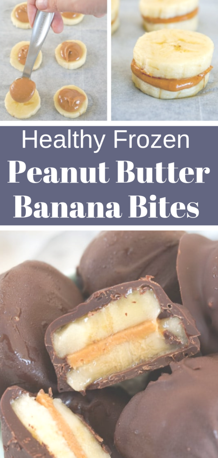 You only need three ingredients – chocolate, peanut butter and bananas – to make these delicious healthy frozen treats. They are super easy to make, clean eating, gluten-free, paleo, vegan, dairy-free and always a hit with everyone! #valentinesday,
