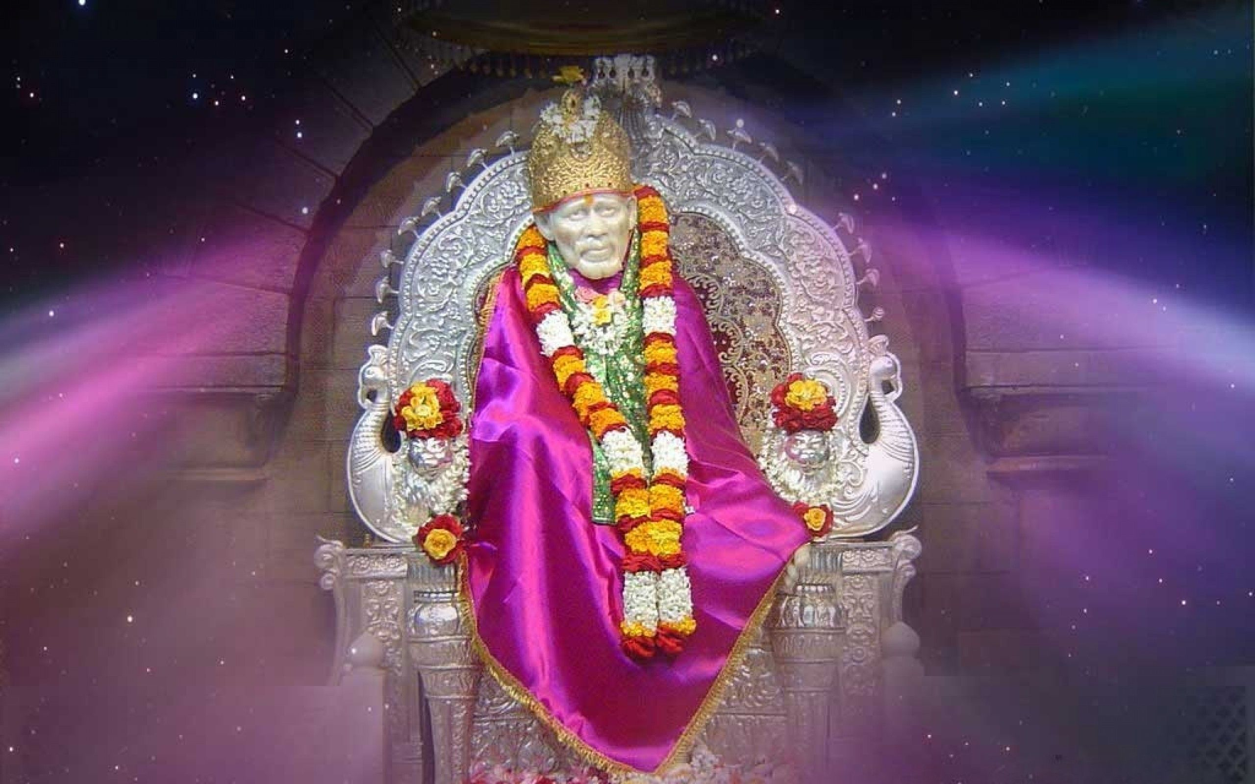 Sai Baba Wide HD Wallpapers | HD Wallpapers - Wallpaper Zone | Saree Draping Styles | Sai baba ...