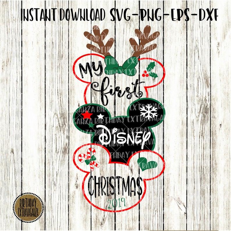 Girls First Disney Christmas SVG My First Trip To Disney