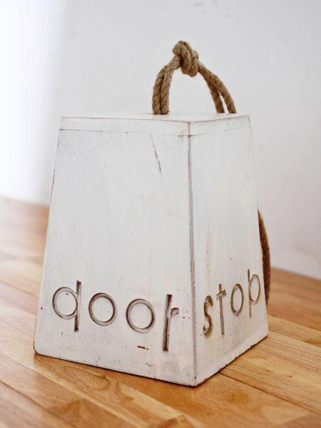 wooden door stop