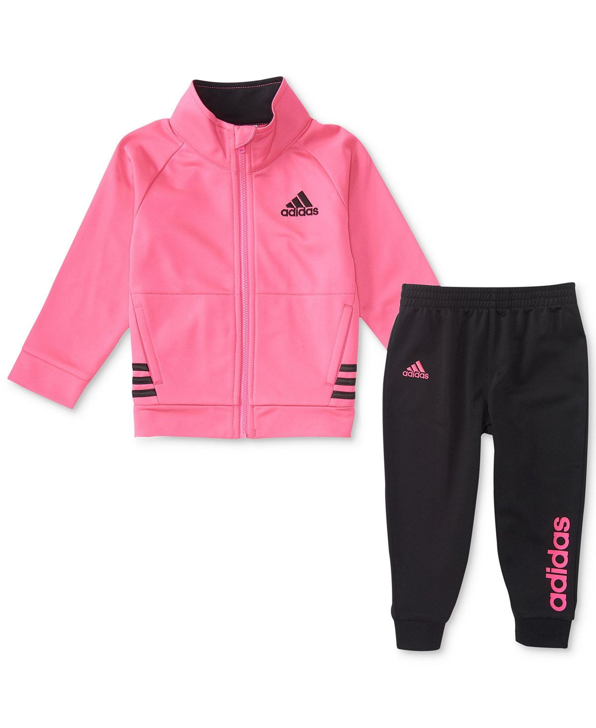282555ff5 adidas 2-Pc. Tricot Jacket   Jogger Pants Set