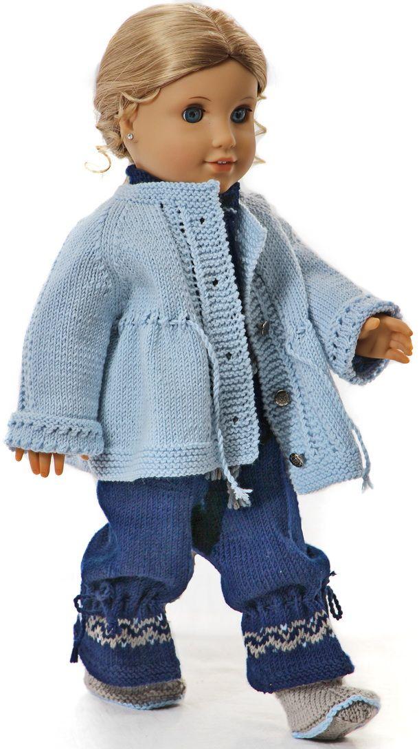 Knitting patterns for american girl dolls | American Girl Doll or 18 ...
