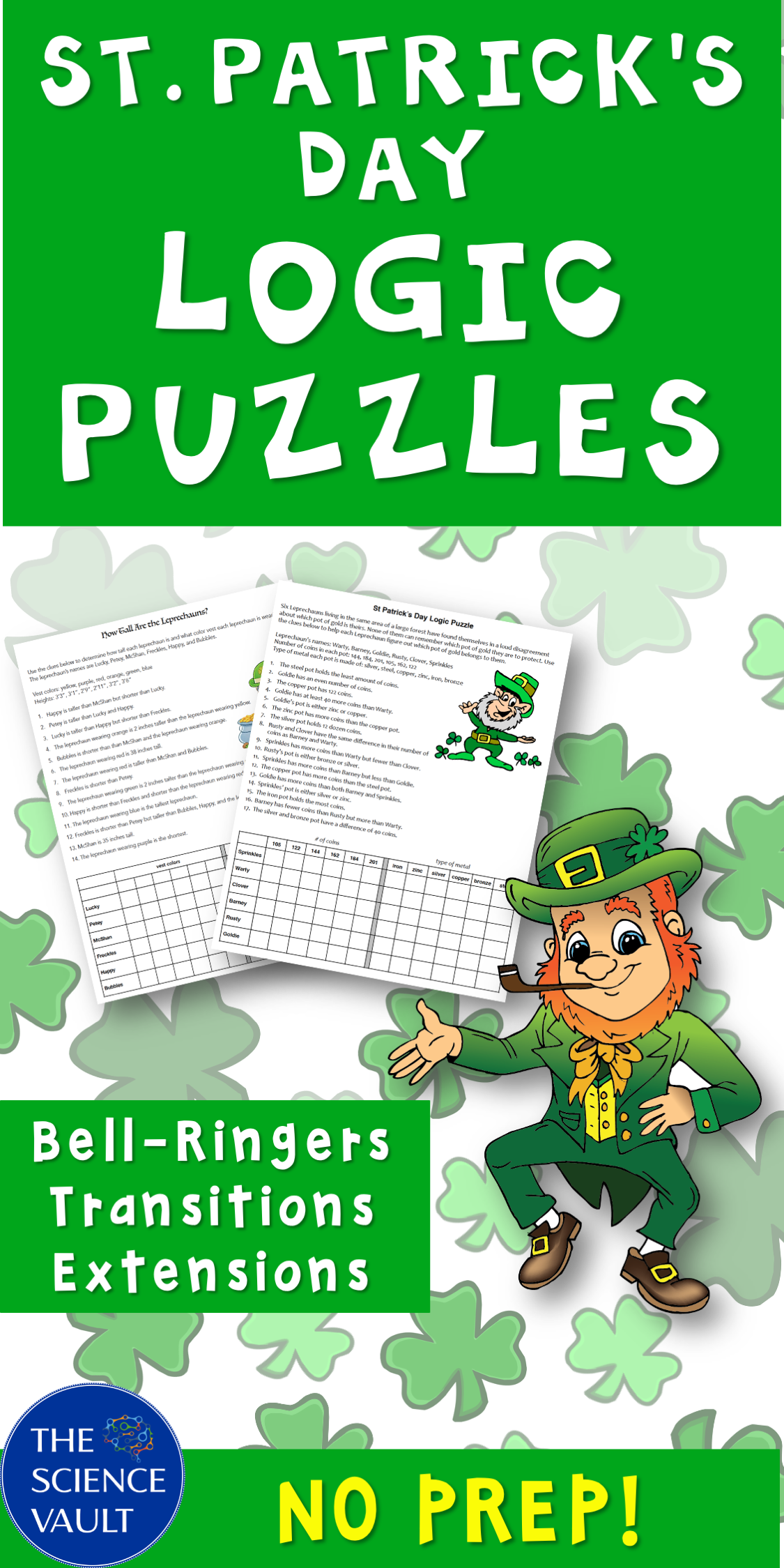 St Patrick S Day Logic Puzzles Two Great Puzzles For