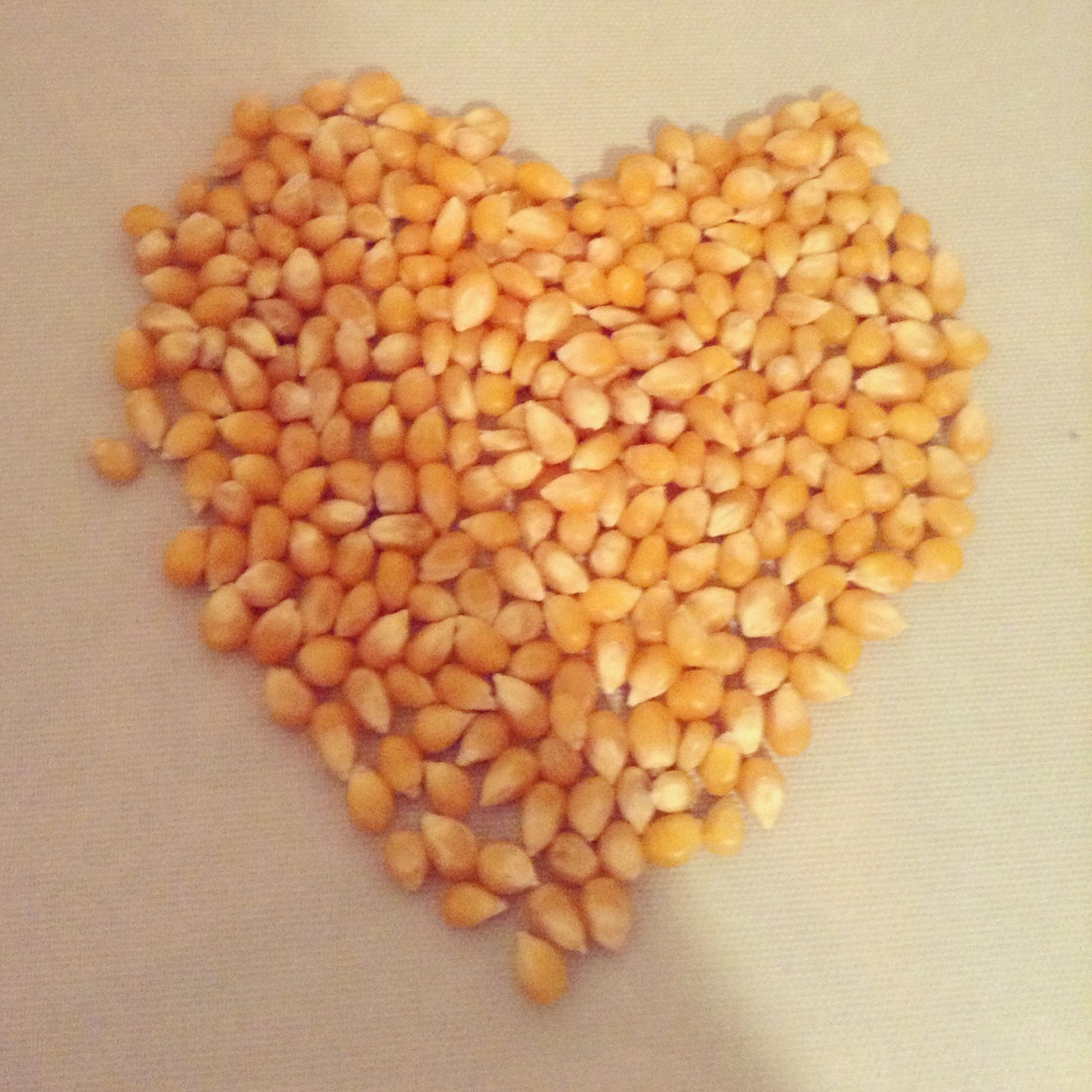 I was bored so I made a heart out of  popcorn