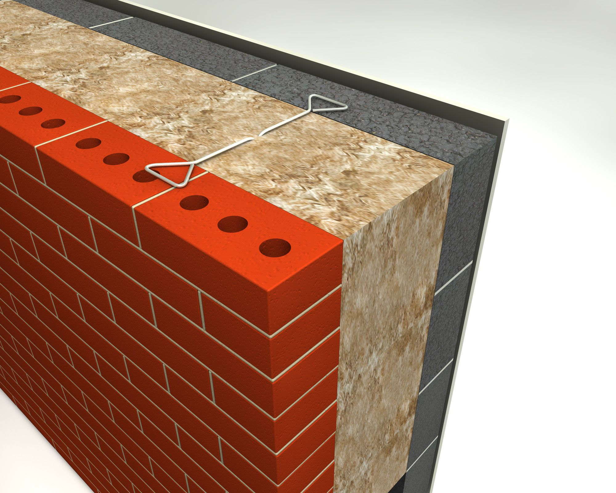 Cavity Wall Insulation Materials : This example shows layer aircrete insulation we would
