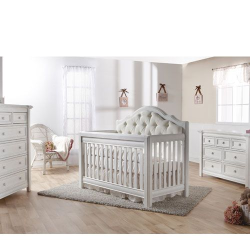 Cristallo Forever Crib Vintage White With Fabric Panel