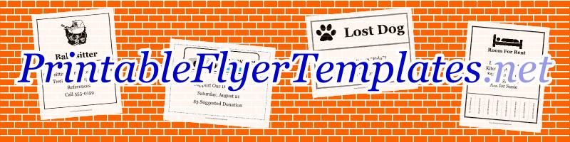 printable flyers free templates