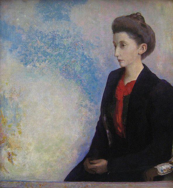 Odilon Redon, Portrait of Baroness Robert de Domecy, 1900