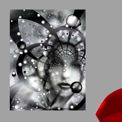 "Wallhogs Xzendor7 Face in The Galactic Web of Chaos Wall Mural Size: 60"" H x 44.5"" W"