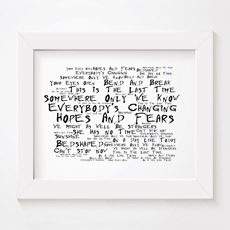 Elvis Costello Poster Print Lyrics Gift Signed Art Anthology