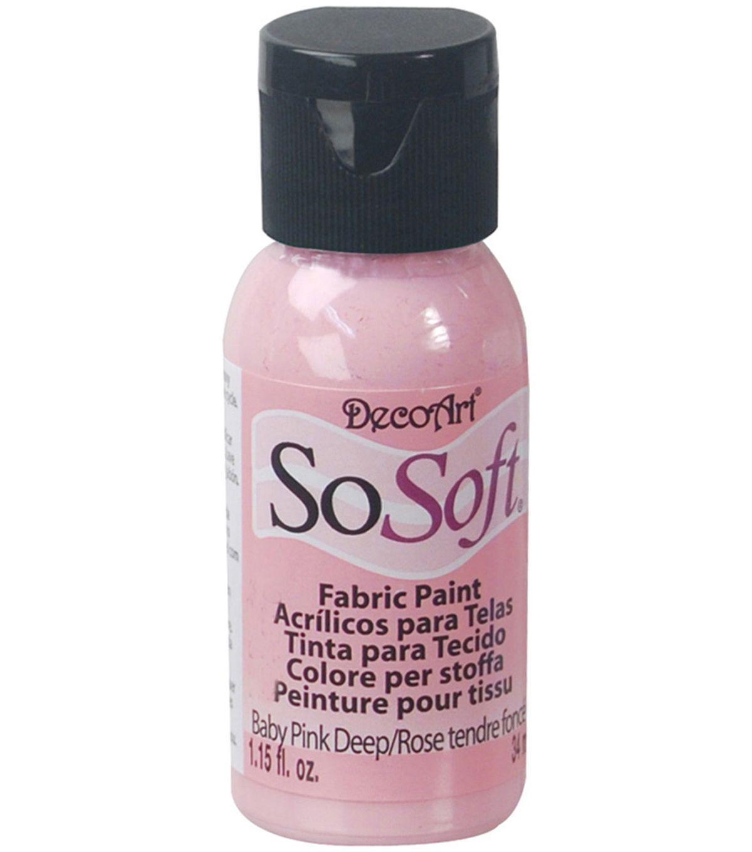 Decoart Sosoft Fabric Acrylic Paint 1 15 Fl Oz Products Painting Fabric Painting Und Fabric
