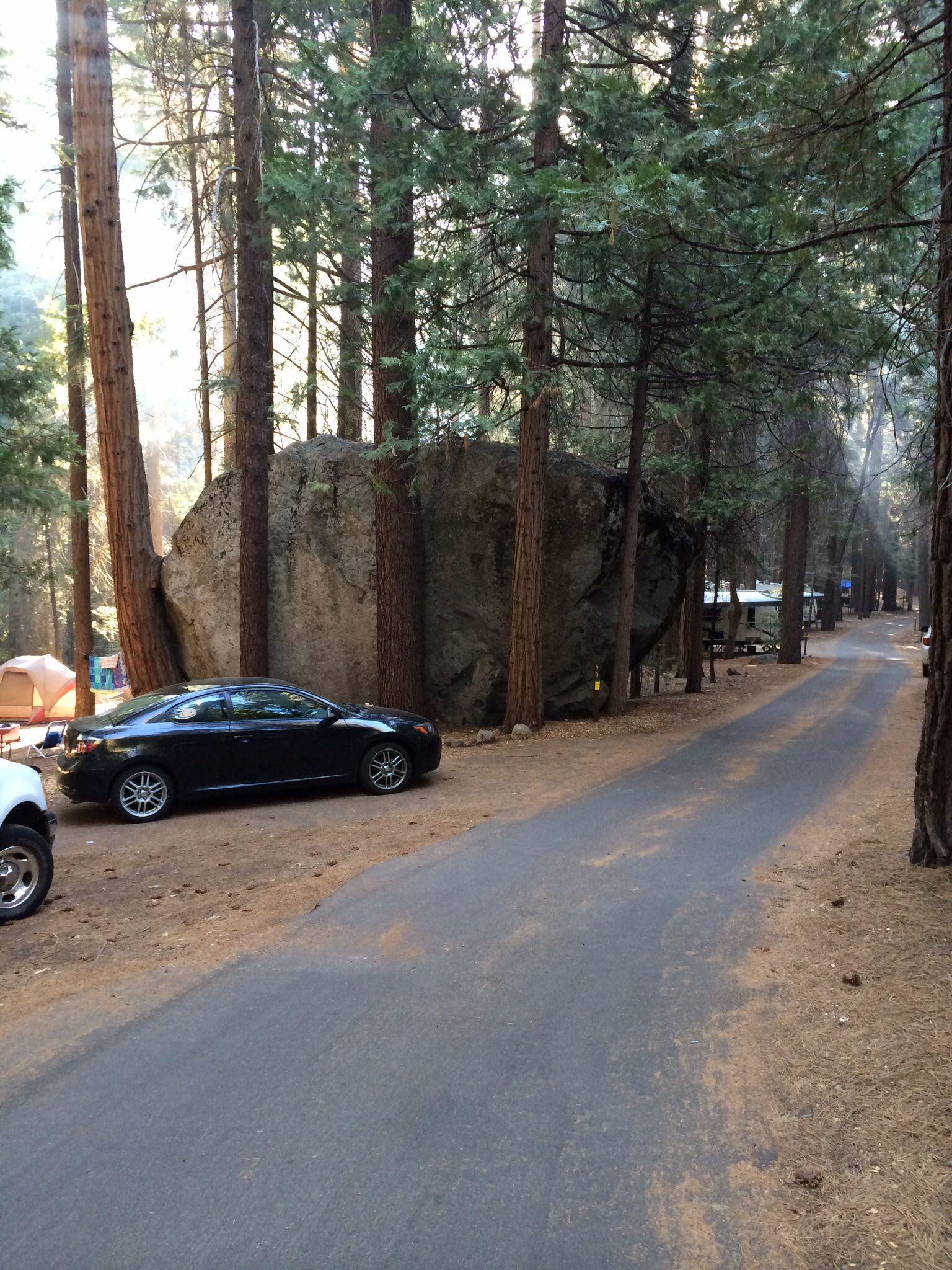 Go big, or go home  Big rock in Sheep Creek campground