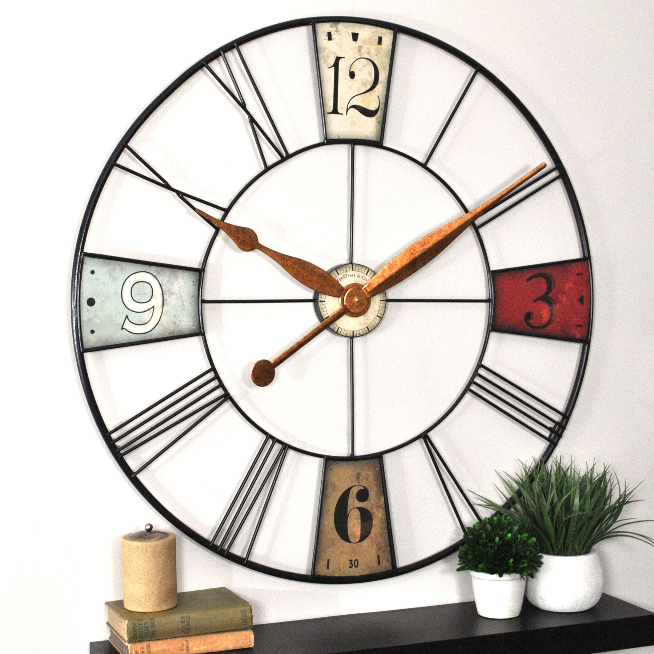 36 wall clock 28 inch oversized vibrant plaques 36 wall clock firstime co products