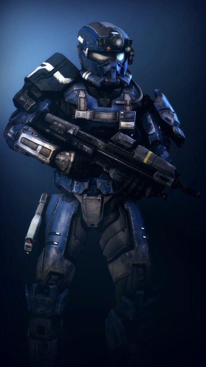 SFM] Blue Spartan by AmberReaper deviantart com on