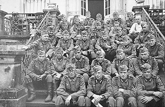 A group of soldiers of the Wehrmacht