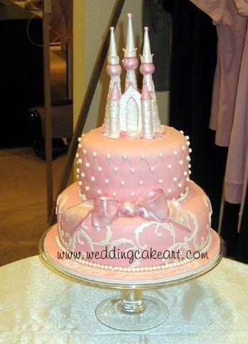 pink castle cake by sharoncakes via flickr decorating