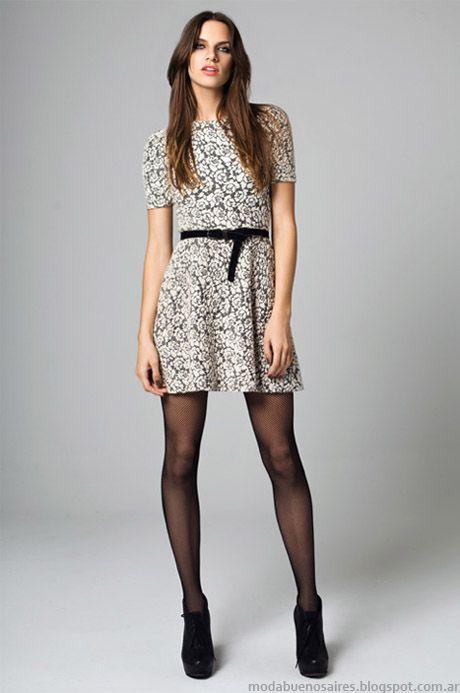 Vestidos cortos de moda otono invierno 2015