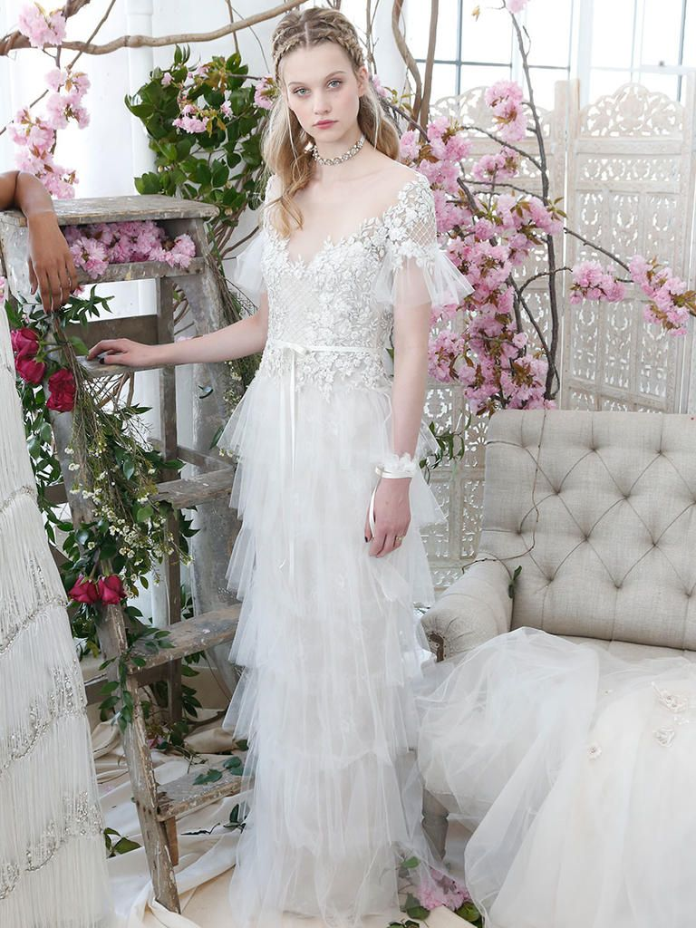 97a8347a Marchesa Notte Bridal Spring 2018: Garden-Inspired Gowns With Dramatic  Details | TheKnot.com