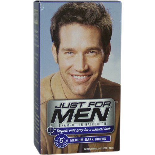 Just for Men Shampoo-In Hair Color, Medium-Dark Brown 40 ...
