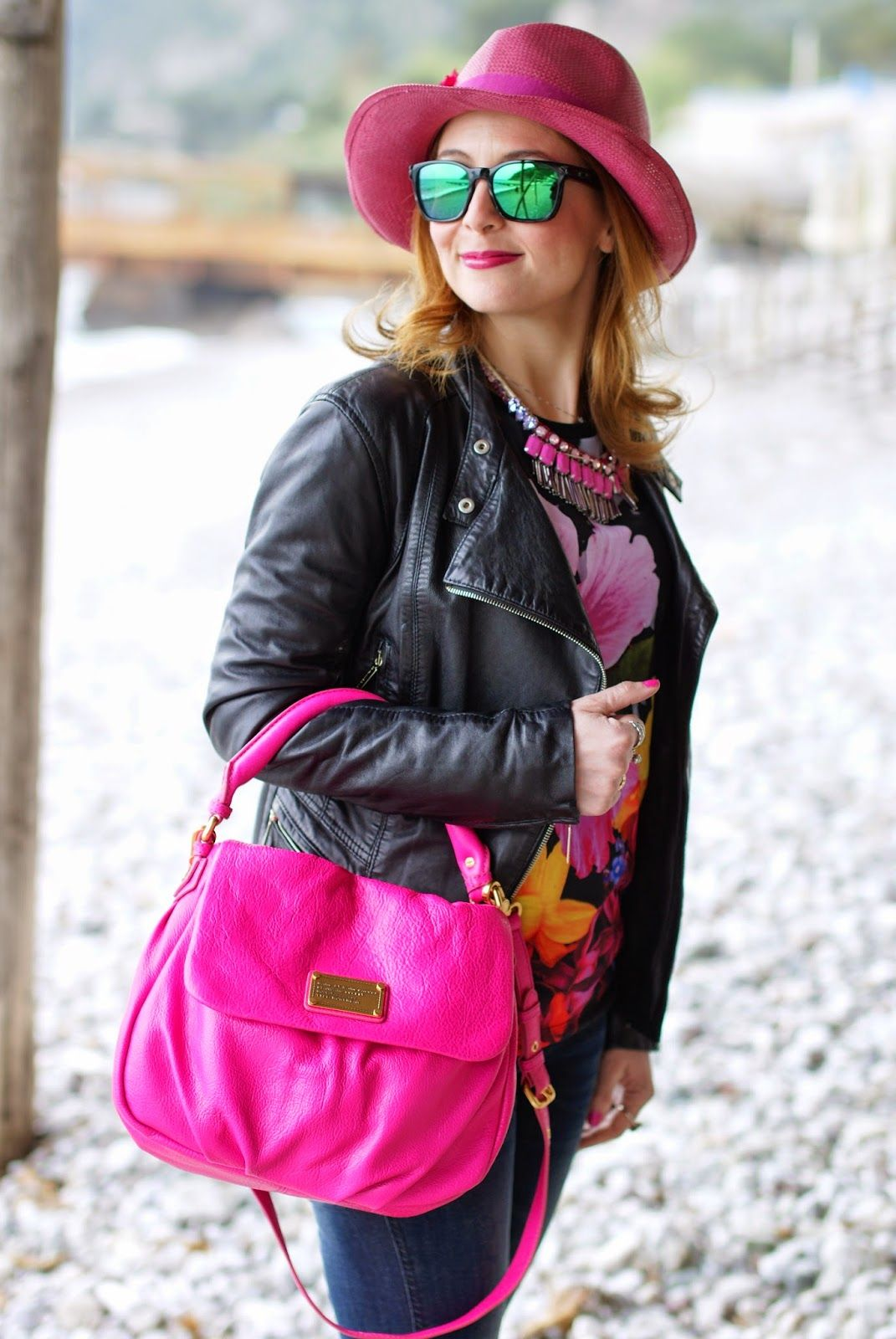 Rosé a pois hat, Sodini necklace, Marc by Marc Jacobs lil ukita bag, Shopart t-shirt, Fashion and Cookies, fashion blogger