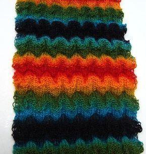 Photo of Einfacher Laceschal aus Farbverlaufgarn