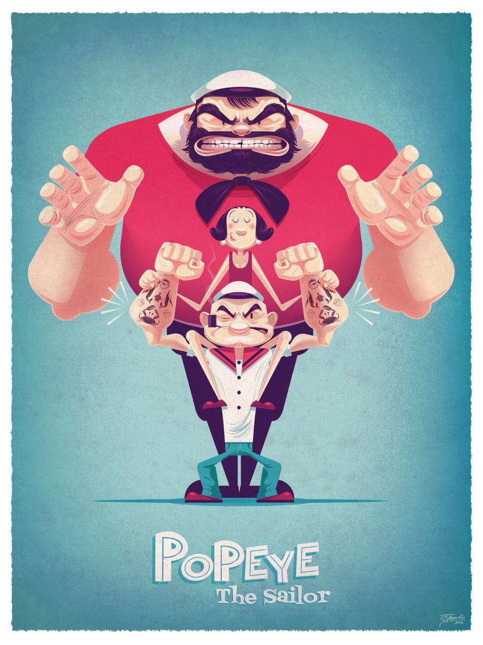Popeye!! O desenho da minha infância celebrando 85 anos! o.O