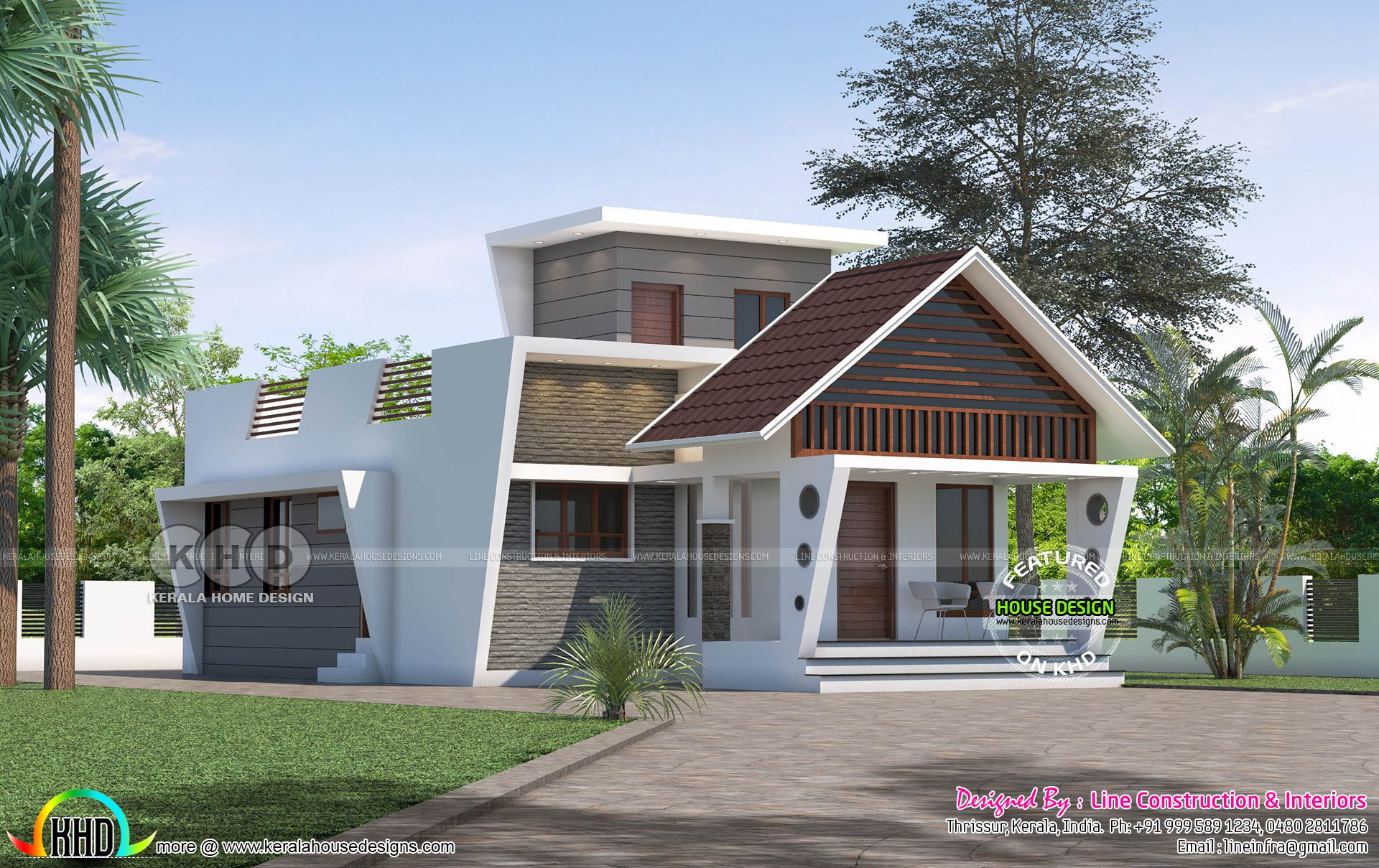 Unique Style Single 3 Bhk 1110 Sq Ft Home Kerala House Design Single Floor House Design House Front Design