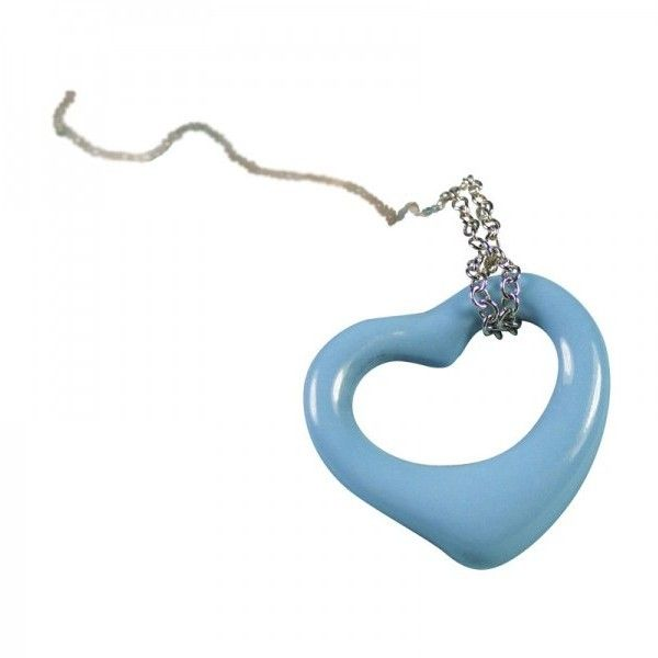 bd4533ad2 Pre-owned Tiffany & Co. Elsa Peretti Turquoise Open Heart Pendant... ($600)  ❤ liked on Polyvore featuring jewelry, necklaces, open heart pendant  necklace, ...