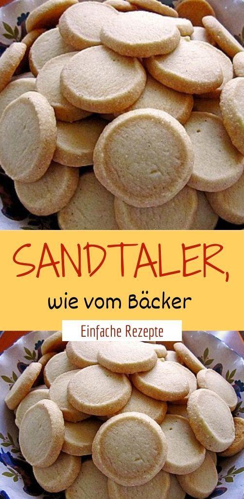 Sandtaler, wie vom Bäcker  – Olivia Gesunde Rezepte ❤️