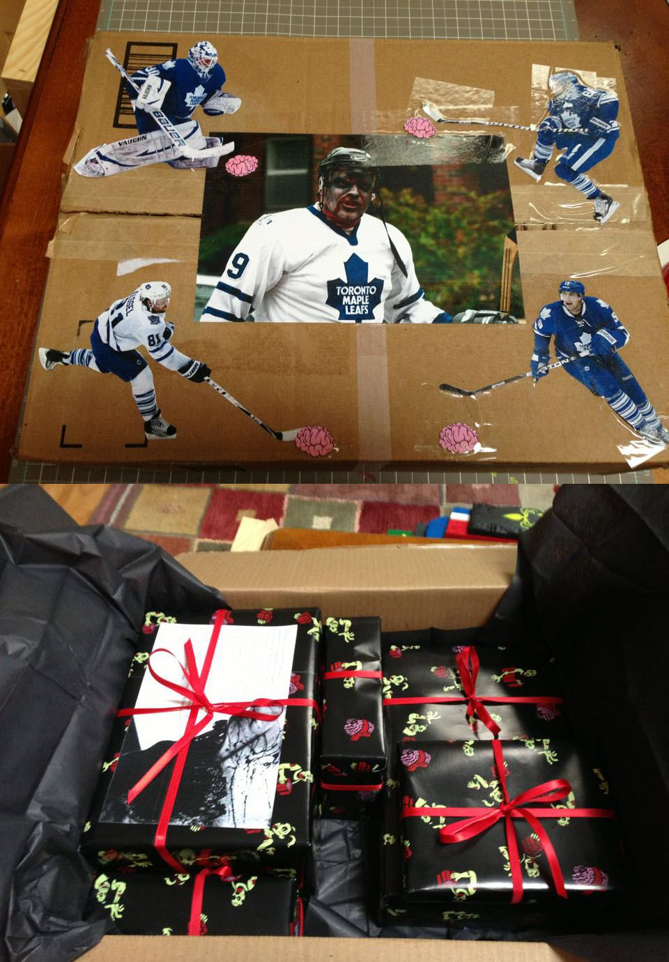 Reddit gift exchange with a zombie theme my giftee is a big reddit gift exchange with a zombie theme my giftee is a big hockey fan hence negle Gallery