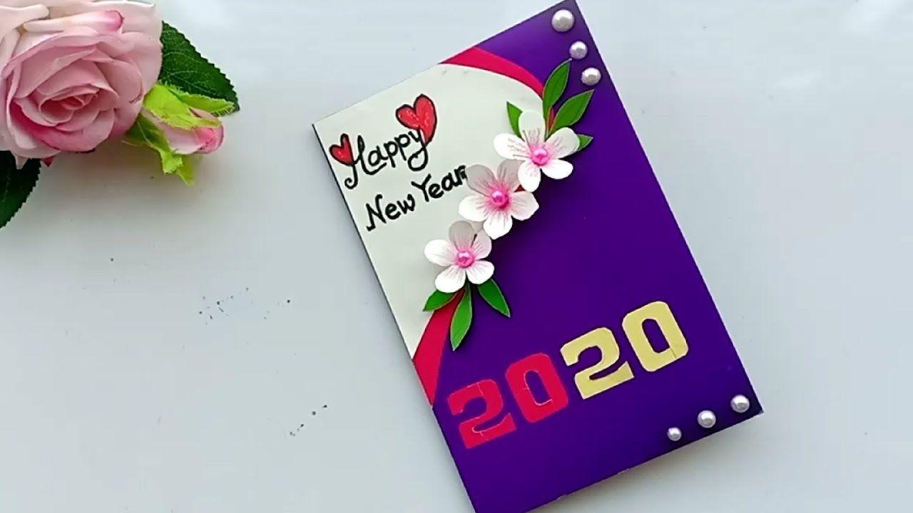 Beautiful Handmade Happy New Year 2020 Card Idea Diy Greeting Cards For Greeting Cards Diy Happy New Year Cards Happy New Year Greetings