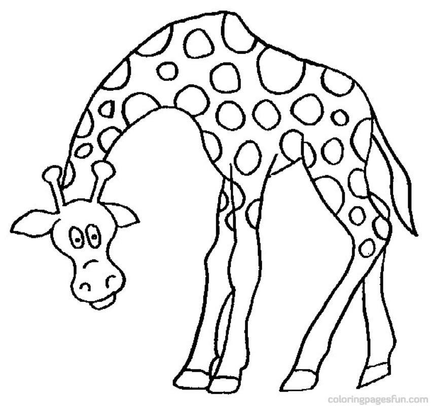 giraffe coloring pages 19 - Giraffe Coloring Pages 2