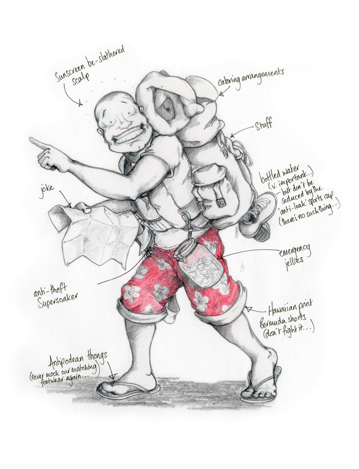 Backpacker Drawing