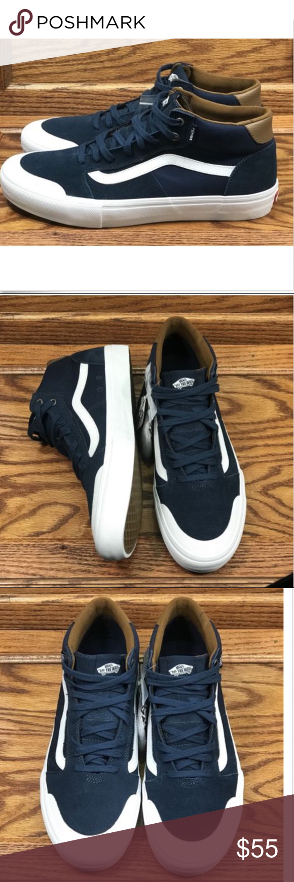 0ceaefd2f8d666 Vans Style 112 Mid Pro Navy White Canvas Suede Vans Style 112 Mid Pro Navy  White Skate Canvas Suede Shoes Size Men 13 Brand new in box Come with extra  laces ...