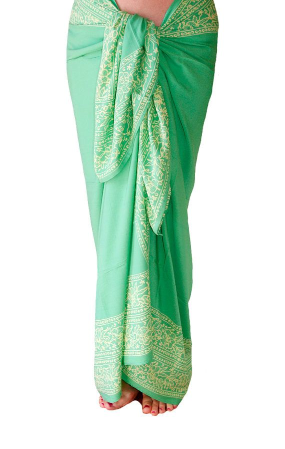 946278ec61 Tropical Sea Green Sarong Cover Up - Womens Clothing Sarong Beach Wrap Skirt  - Swimsuit Coverup