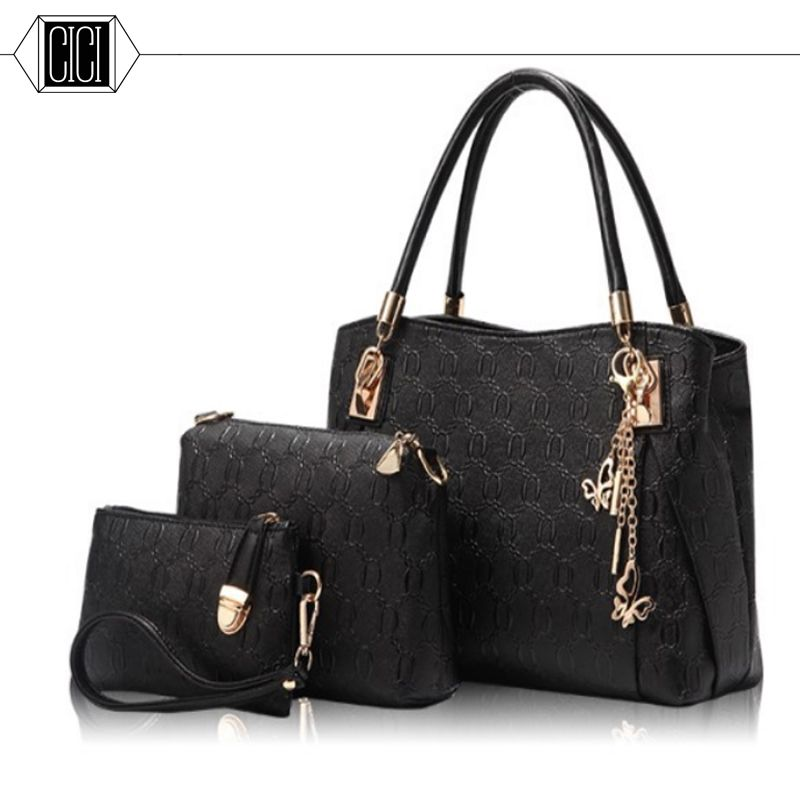 56c46891375 2016 new style women handbags leather handbag women messenger bags ladies  brand designs bag Handbag+Messenger Bag+Purse 3 Sets  Affiliate