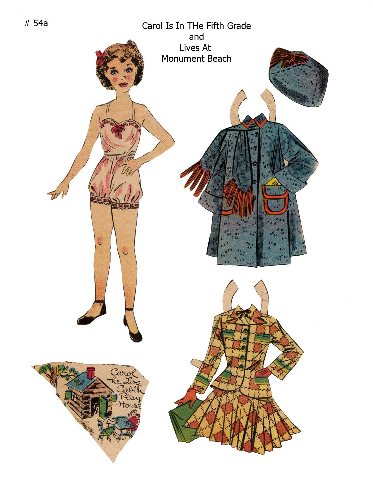 CAROL ~~~ Lucy Eleanor Leary, Boston Sunday Post, Newspaper Paper Dolls ~ 1 of 2