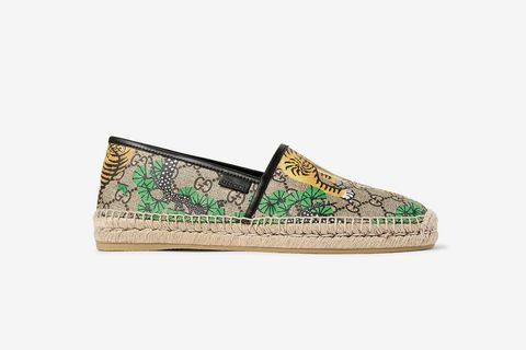 Chaussures en cuir boucles à rayures Web BeyondGucci RLLFZ