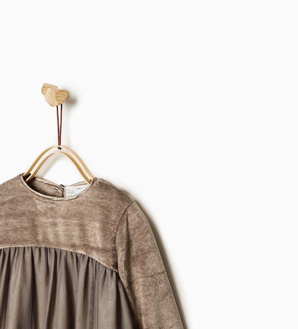 ZARA - KIDS - CONTRAST VELVET DRESS | Fashion