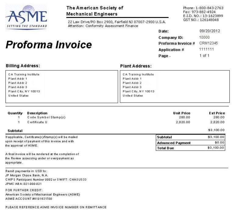 Proforma Invoice Template 6 Invoice Sample Invoice